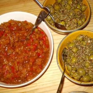 olives and chutney
