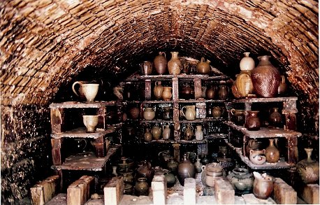 Another pic I found on-line of the inside of a groundhog kiln.