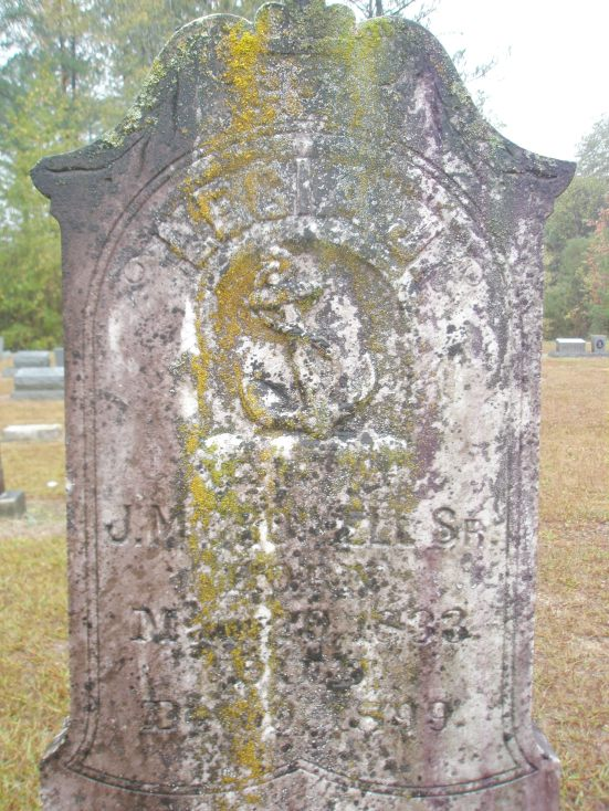 Lecia Jane Morton's grave at Murphy Creek in Louisville, MS (Pa Crowell's mother and folk potter Green Berry Morton's daughter)
