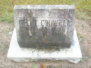 Pa Crowell's tombstone