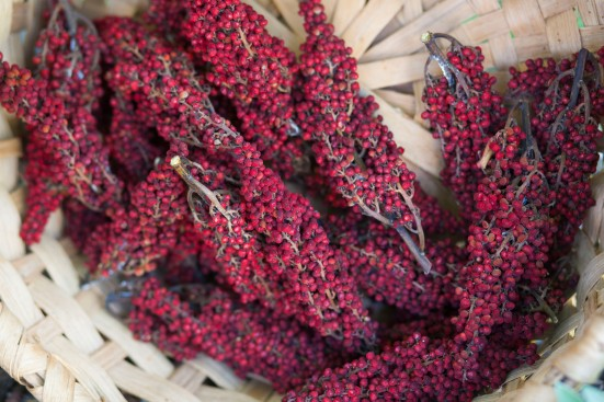 sumac in oak basket