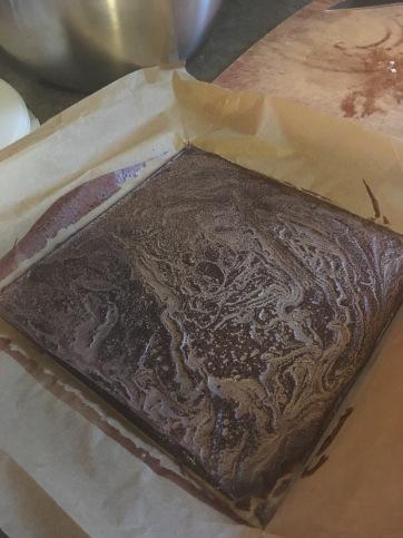 Carob chip slab ready to cut