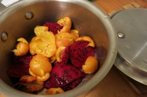 About to simmer fruit