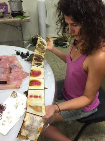 Plant-dye workshop with Patricia Brown in Greenwood, MS...