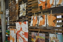 My friend, Robin's, art studio in Grenada, MS...